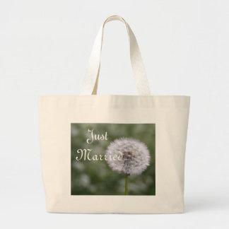 Flores selvagens que Wedding convites e favores Sacola Tote Jumbo