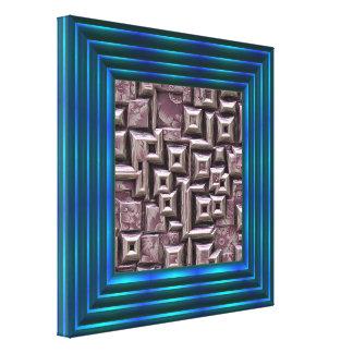 flores surpreendentes 3d nos blocos (i) impressão em tela
