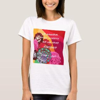 Flores, tempo e mensagem da felicidade camiseta