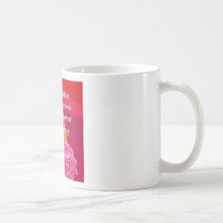 Flores, tempo e mensagem da felicidade caneca de café