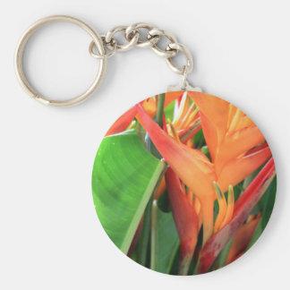 Flores tropicais brilhantes de Heliconia Chaveiro