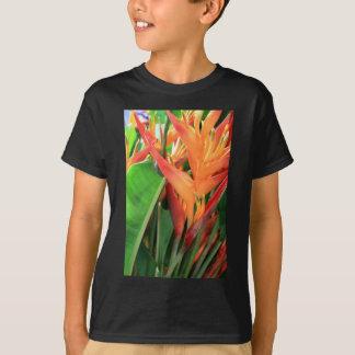 Flores tropicais brilhantes de Heliconia T-shirt