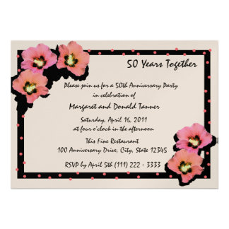 Flores tropicais convites personalizados