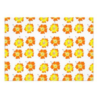 Flores tropicais convite personalizado