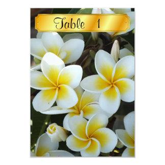 Flores tropicais convite 8.89 x 12.7cm