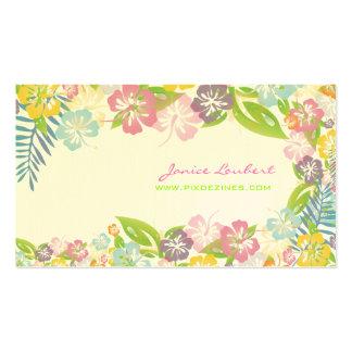 Flores tropicais corajosas retros/estoque da casca cartoes de visitas
