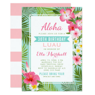Flores tropicais dos convites | de Luau do