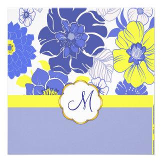 Flores tropicais + Monograma, convites