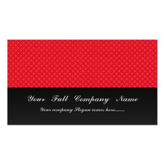 Flores vermelhas bonitos no fundo vermelho claro cartão de visita