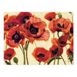 Flores vermelhas cartão postal