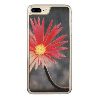 Flores vermelhas da margarida do vintage capa iPhone 7 plus carved