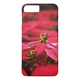 Flores vermelhas das poinsétias capa iPhone 7 plus