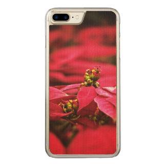 Flores vermelhas das poinsétias capa iPhone 7 plus carved
