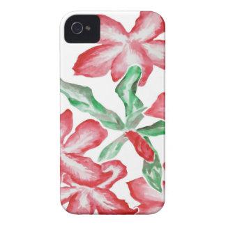 Flores vermelhas de cora capa para iPhone 4 Case-Mate