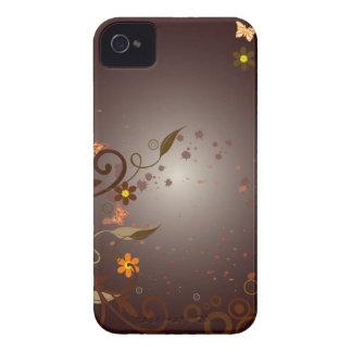 Flores & videiras de Brown Capinhas iPhone 4