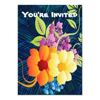 Flores & videiras tropicais convite 12.7 x 17.78cm