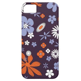 Floresce a capa de telefone colorida roxa floral
