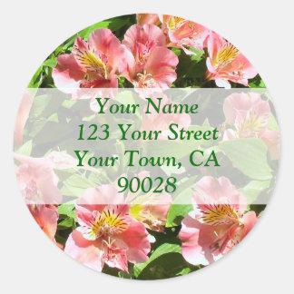 floresce etiquetas de endereço adesivo