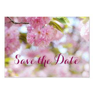 Florescência da cereja convite 12.7 x 17.78cm