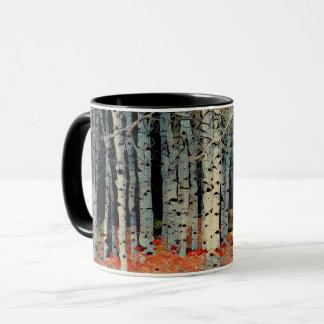 Floresta 1 da árvore de vidoeiro caneca