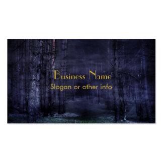 Floresta assustador cartões de visitas