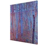 Floresta da faia por Gustavo Klimt, arte Nouveau d Impressão De Canvas Esticadas