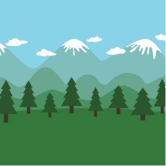 Floresta da montanha escultura de fotos