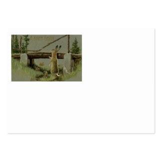 Floresta da ponte do coelhinho da Páscoa Cartão De Visita Grande