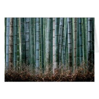 Floresta de bambu, Japão Cartão De Nota