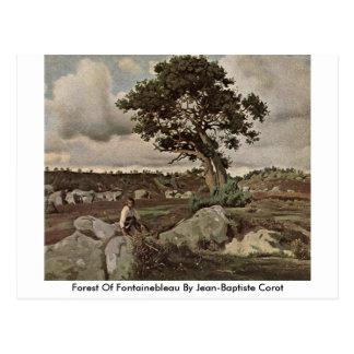 Floresta de Fontainebleau por Jean-Baptiste Corot Cartão Postal