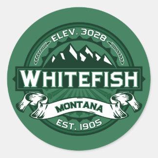 Floresta do logotipo do peixe branco adesivo