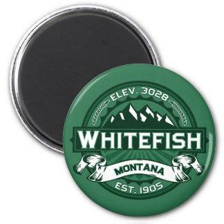 Floresta do logotipo do peixe branco imãs