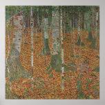 Floresta do vidoeiro por Gustavo Klimt, arte Pôsteres