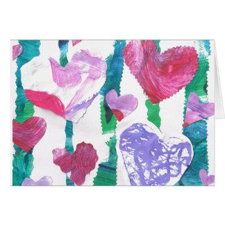 Floresta dos corações cartão