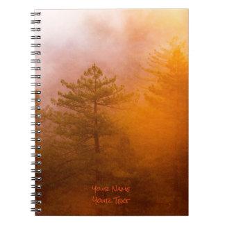 Floresta dourada da corriola caderno espiral