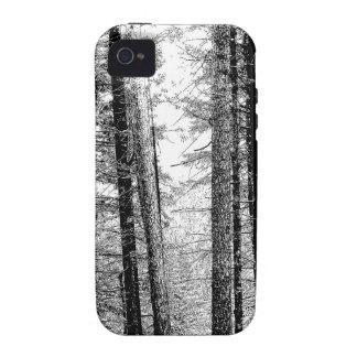 Floresta em preto e branco capinhas para iPhone 4/4S