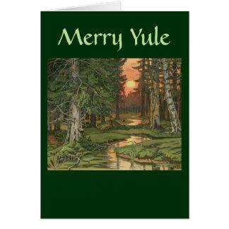 """""""Floresta feericamente no cartão alegre de Yule do"""