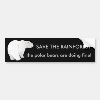 Floresta húmida ou ursos polares? Autocolante no v Adesivo Para Carro