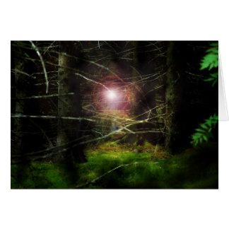 Floresta Mystical Cartão Comemorativo