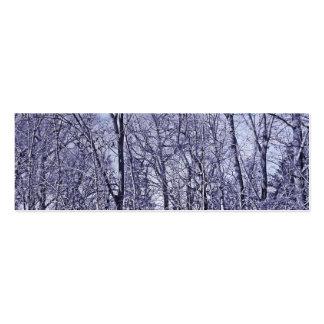 Floresta no crepúsculo cartão de visita skinny