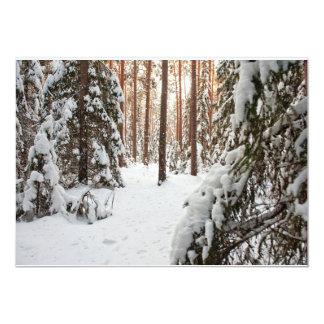 Floresta no inverno convite 12.7 x 17.78cm