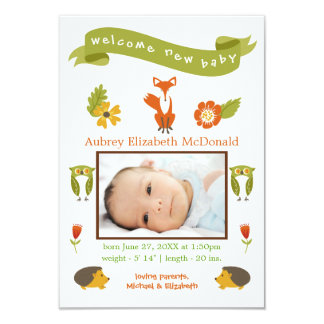 Floresta nova bem-vinda do bebê - anúncio do