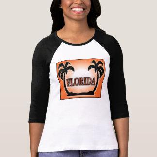 Florida Airbrushed palmeiras alaranjadas do por do T-shirt