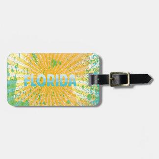 Florida do costume, o brilhante e o ensolarado etiqueta de bagagem