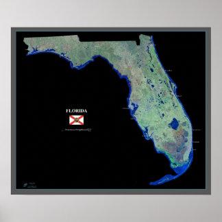 Florida do poster do satélite do espaço