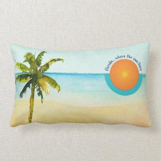 Florida… Onde o Sun vive calmo encalhe Almofada Lombar