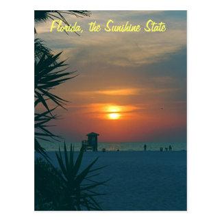 Florida, sunshine state cartão postal