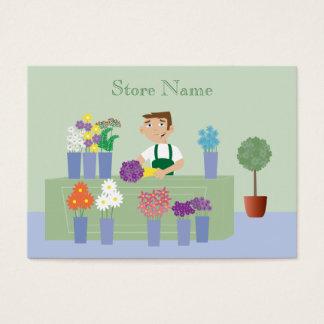 Florista bonito dos desenhos animados & cartões de