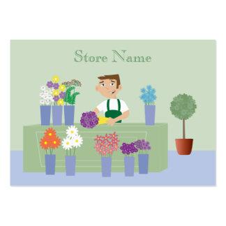 Florista bonito dos desenhos animados & cartões de cartão de visita grande