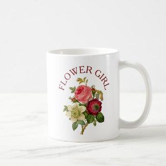 Florista Borgonha e caneca do buquê do rosa do